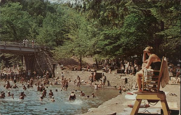 Swimming at World's End State Park, Pa. Forksville Pennsylvania