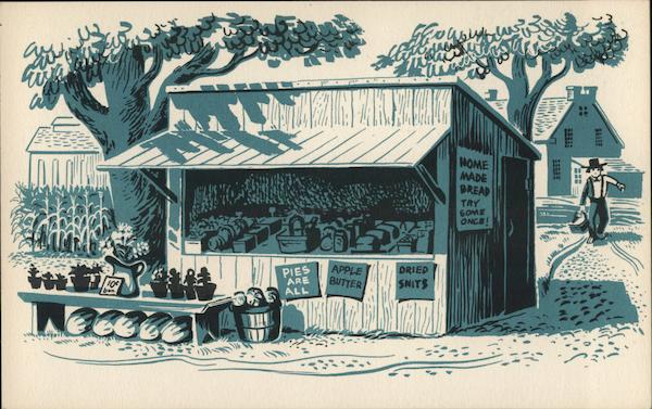 Roadside stand selling produce. Lancaster Pennsylvania
