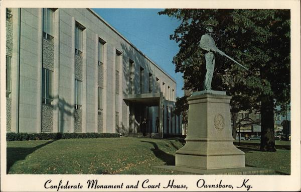 Confederate Monument and Court House Owensboro Kentucky