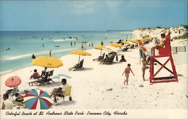 Colorful Beach at St. Andrews State Park On the Miracle Strip Panama City Florida