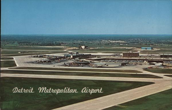 Aerial of Metropolitan Airport, Looking Southwest Detroit Michigan