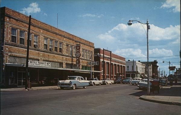 Downtown View of Business District Corinth Mississippi