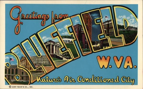 Greetings from Bluefield West Virginia Large Letter