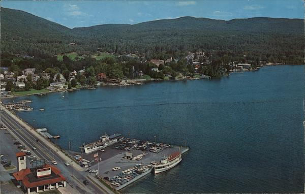 Aerial View at Head of Lake George New York