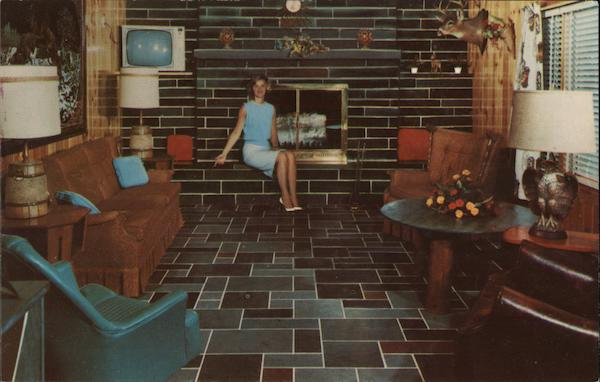 Hilltop Slate Company - Woman Sitting in Front of Fireplace Middle Granville New York