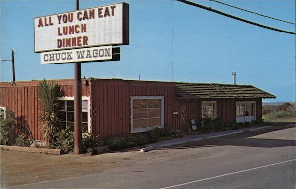 The Chuck Wagon Restaurant Cambria Ca Postcard