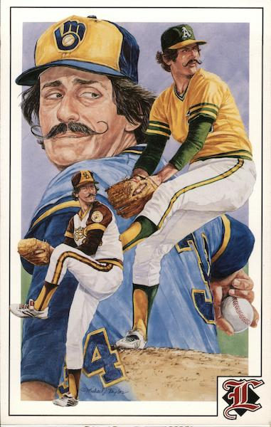 Pitcher Rollie Fingers - Milwaukee Brewers Baseball