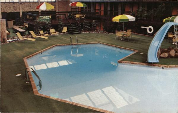 Poolside at the Beautiful Sheraton Inn Shenango West Middlesex Pennsylvania