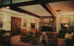 Custer State Park - Game Lodge Lobby Postcard