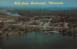 Aerial View of Hackensack, Minnesota