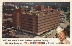 Chesterfield Cigarette Factory Postcard