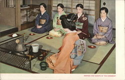 Hostess and Guests at Tea Ceremony