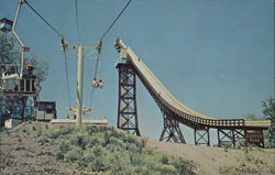 Copper Peak - Ski Flying Hill, Chair Lift and Elevator Postcard