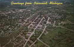 Greetings From Ironwood, Michigan Postcard