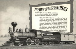 Burlington Route - Pride of the Prairies - Engine 35, Mail Car