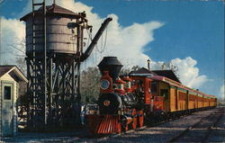 Passenger Train at Frontierland Water Tower
