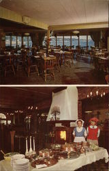 Two Interior Views of Oleana-By-The-Sea Restaurant and Coffee Shop