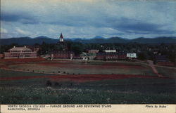 North Georgia College - Parade Ground and Reviewing Stand Postcard
