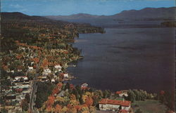 Aerial View Looking North from Lake George Village