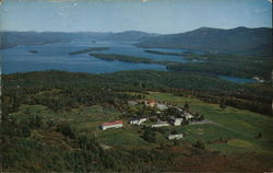 Aerial View of Lake George and Top O' the World Golf Course