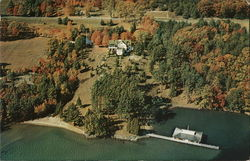 Autumn Aerial View of Lagoon Manor