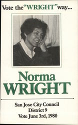 "Vote the ""Wright"" Way, Norma Wright"