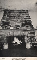 Fireplace at Summit House, Mt. Wachusett