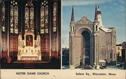 Notre Dame Church - One Inside and One Exterior View