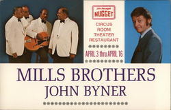 Mills Brothers and John Byner at John Ascuaga's Nugget Postcard