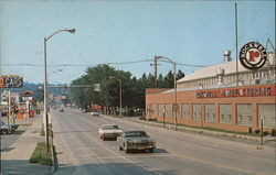 Approaching Business District, Rockwell Manufacturing Postcard