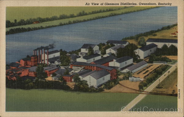 Air View of Glenmore Distilleries Owensboro Kentucky