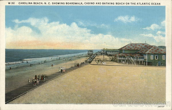 Boardwalk, Casino and Bathing Beach Carolina Beach North Carolina
