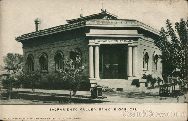 Sacramento Valley Bank Biggs California