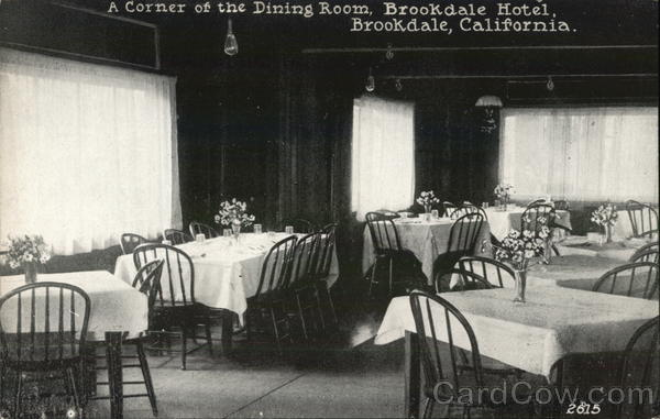A Corner of the Dining Room, Brookdale Hotel California