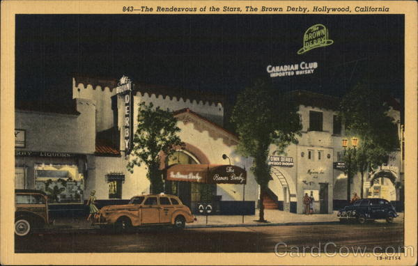 Rendezvous of the Stars, The Brown Derby Hollywood California