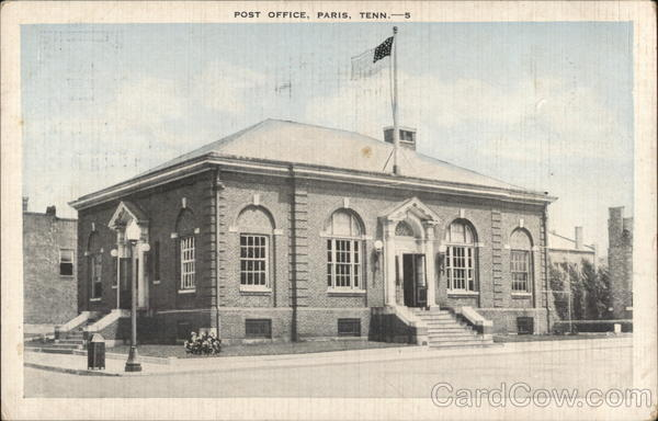 Post Office Paris Tennessee