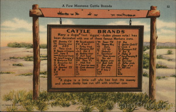 A Few Montana Cattle Brands Cowboy Western