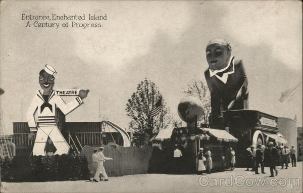 Entrance, Enchanted Island 1933 Chicago World Fair