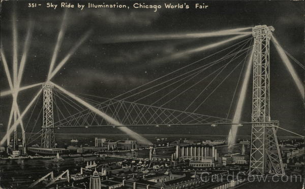 Sky Ride and Illuminations 1933 Chicago World Fair