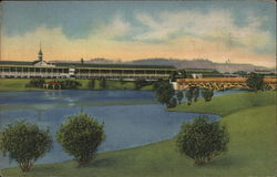Latonia Race Track - Grandstand and Lagoon