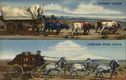 Covered Wagon/Overland Stagecoach