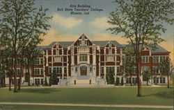 Arts Building, Ball State Teachers' College Postcard
