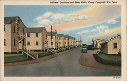 Officers' Quarters and Mess Hall, Camp Campbell Postcard