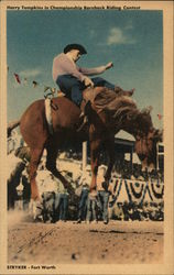 Harry Tompkins in Championship Bareback Riding Contest Postcard