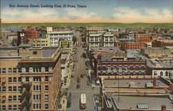 San Antonio Street, Looking East Postcard