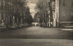 Looking Down Mt. Vernon Street from Louisburg Square