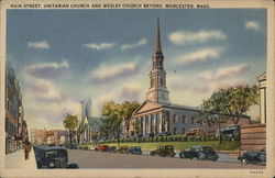 Main Street, Unitarian and Wesley Churches