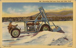 Harvesting Salt Near Great Salt Lake, Utah