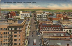 San Antonio Street Looking East Postcard