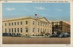 New U.S. Post Office and Hilton Hotel Postcard